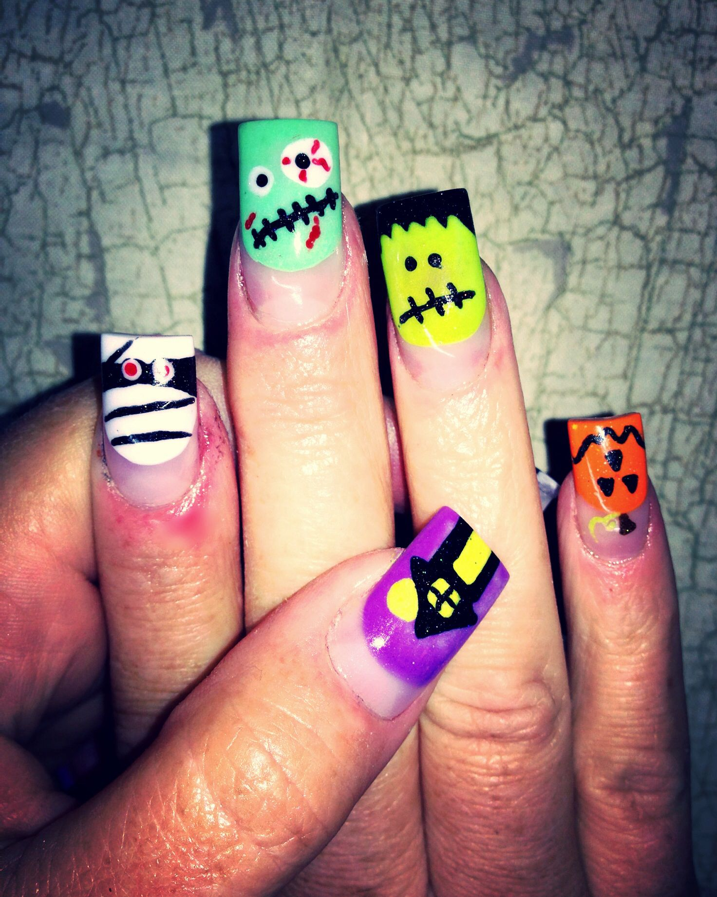 Halloween Nail Art | Halloween toe nails, Halloween nail ...