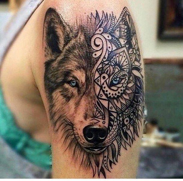 Niebieskie Oczy Tatuaż Wilk Tattoo Ideas Pinterest Tattoos
