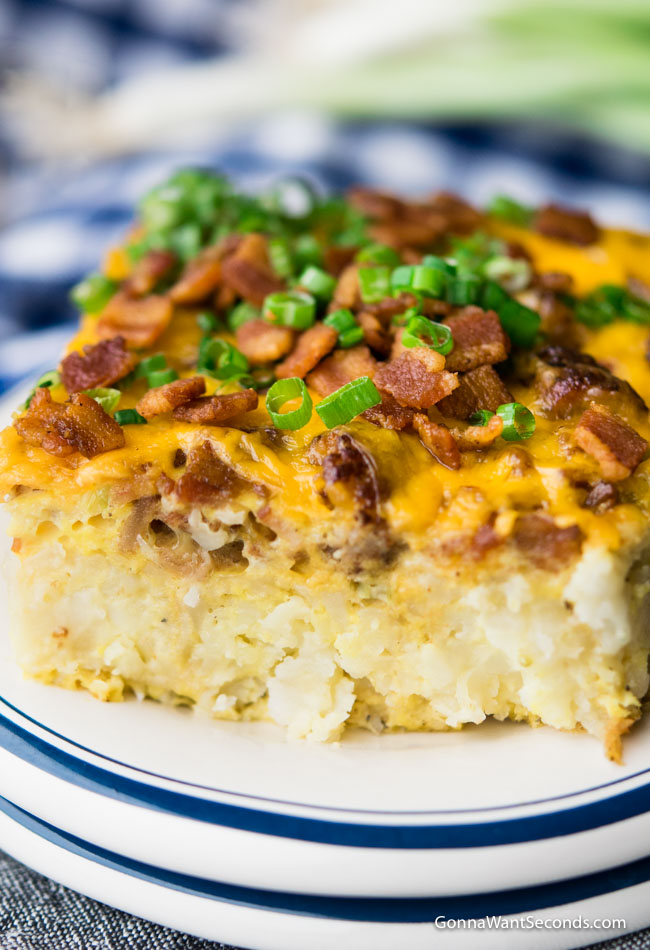 Our Easy Tater Tot Breakfast Casserole takes minutes to assemble and the result is a dish that's pe