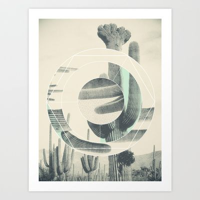 Saguaro Sun Art Print by Three Lives Left - $17.00