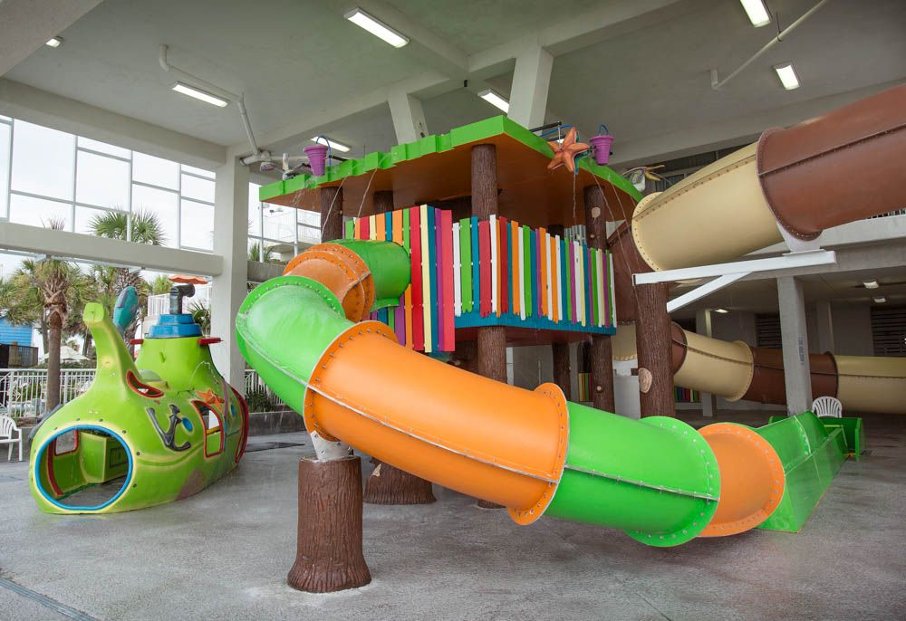 Fun kids water play area at crown reef resort great for a