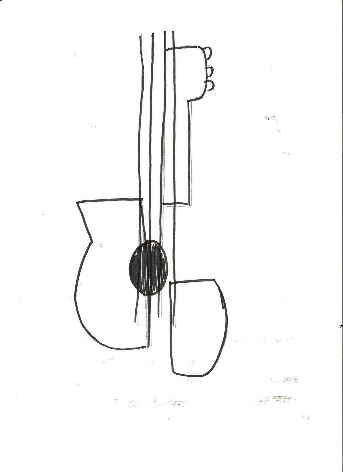Contour Line Drawing Guitar : Picasso guitar drawings google search possible tattoos