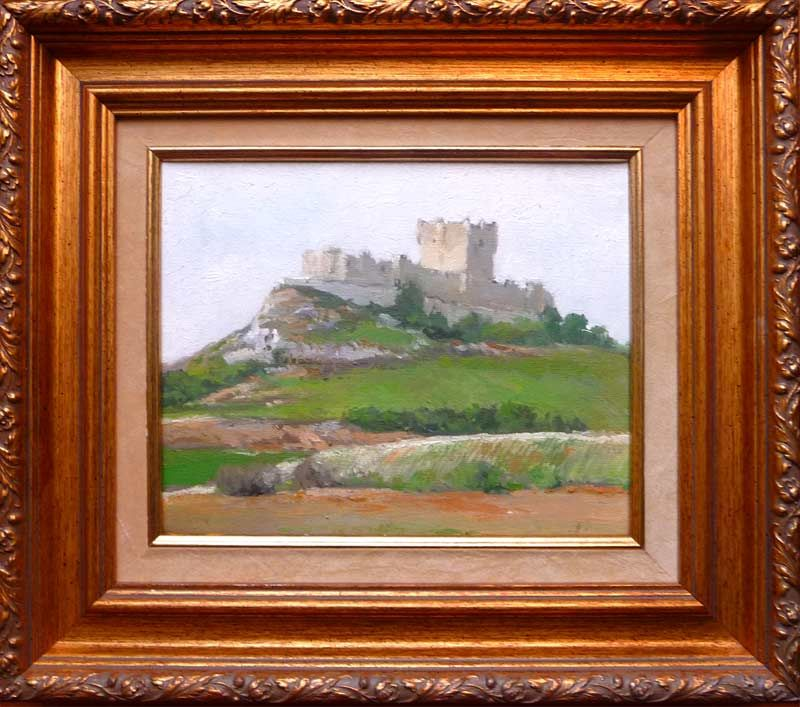 Cuadro al óleo de pequeño formato de Peñafiel enmarcado.   cuadros ...