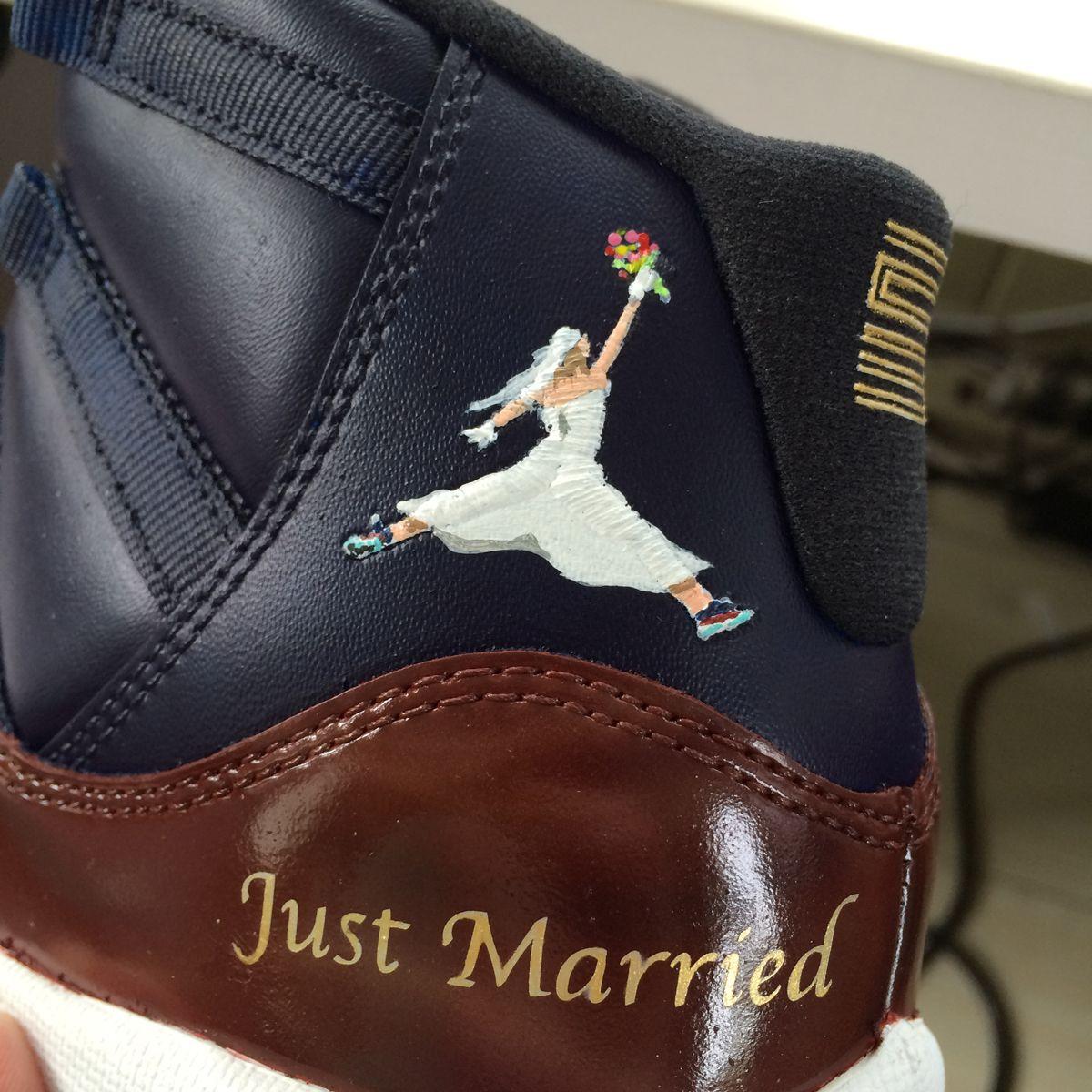 f02a9a45e2a8 Air Jordan 11 Wedding Customs