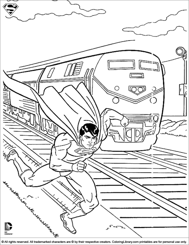Superman Coloring Picture Superman Coloring Pages Train Coloring Pages Superhero Coloring Pages