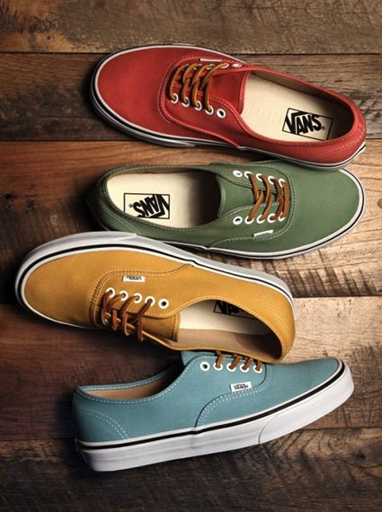 Vans Authentic Brushed Twill Shoes : gryffindir, hufflepuff ...