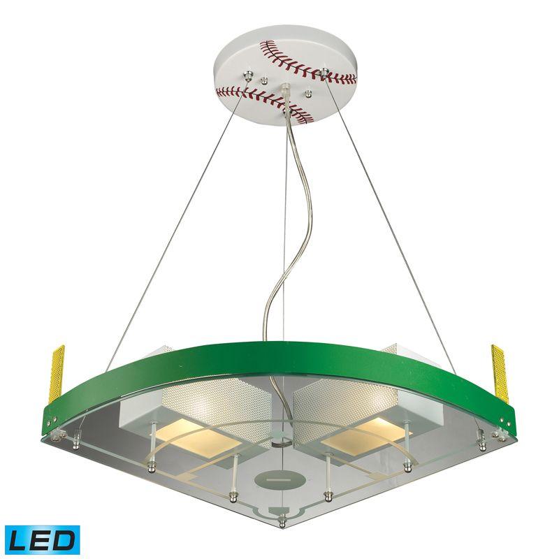 Baseball Themed Fixture Available In Led Elk Lighting
