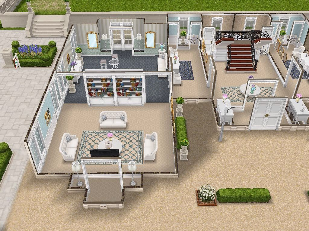 House 108 french chateau ground level sims simsfreeplay for Casa de diseno sims freeplay