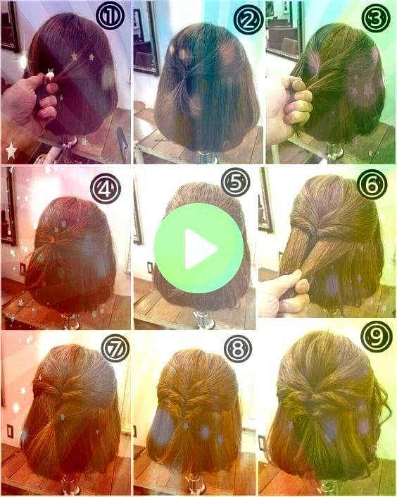 is a step by step example of a cute but simple hairstyle  This is a step by step example of a cute but simple hairstyle   Easy School Girl Ponytail updo hairstyles weddin...