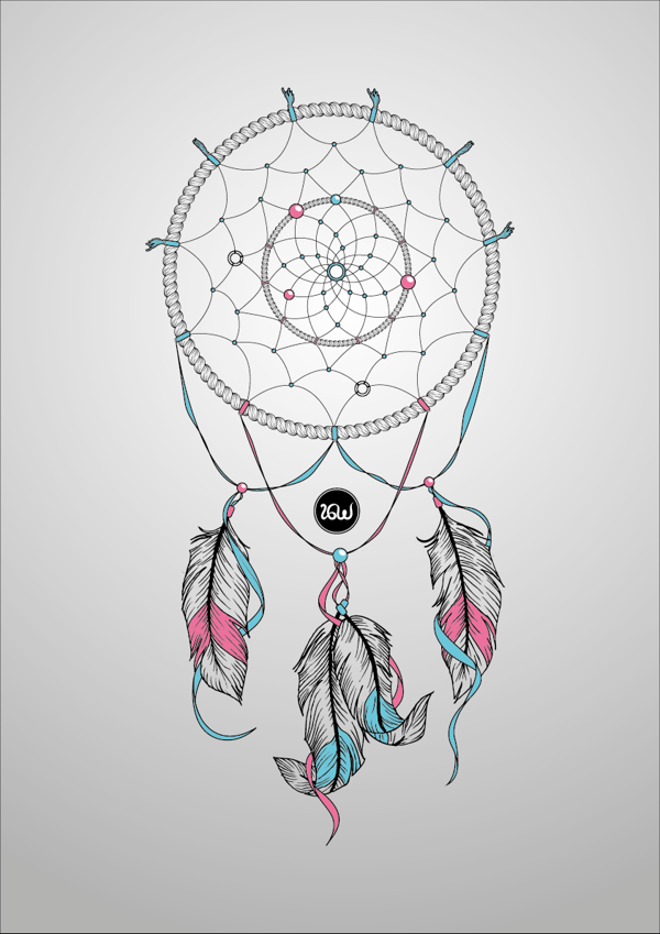 Dream catcher drawing by ivan g wicaksana via behance