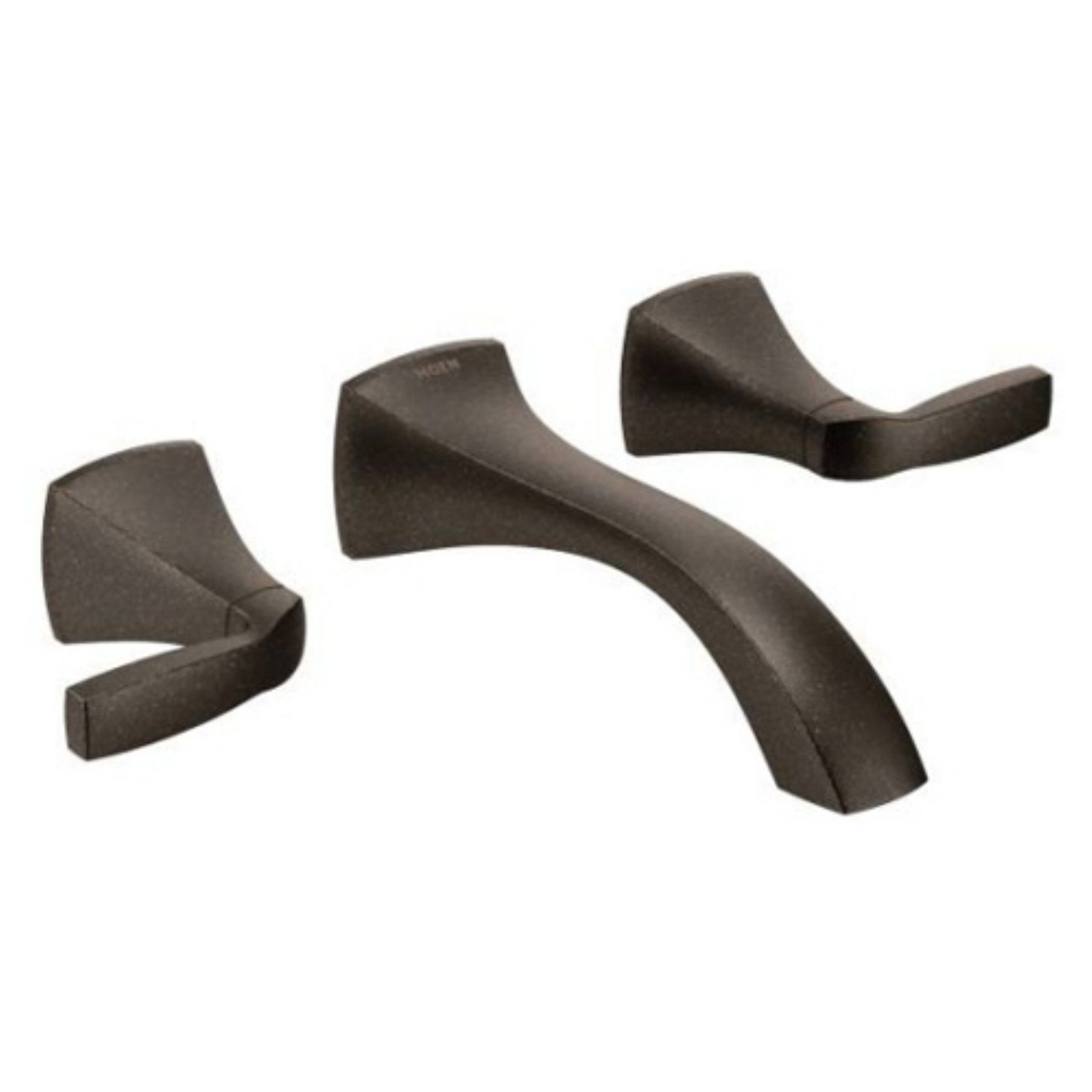 Voss Oil Rubbed Bronze Two Handle Wall Mount Bathroom Faucet