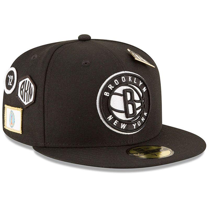 40f43e6d285 Brooklyn Nets New Era 2018 Draft 59FIFTY Fitted Hat – Black ...