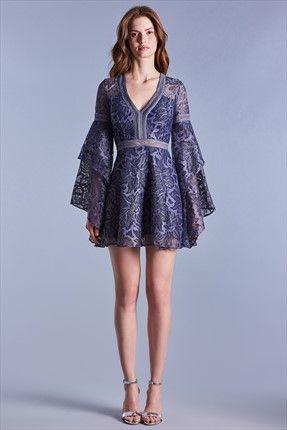 Eva Mavi Dantel Elbise Mini Skirt Dress Runway Fashion Dresses