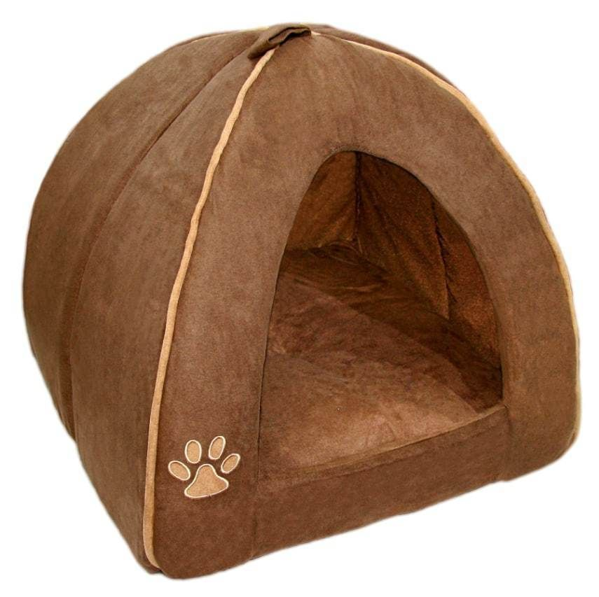 Indoor Dog House Bed Brown Pet Soft Warm Cushion Pad Washable Cat Home Large New  sc 1 st  Pinterest & Dog Bed Tent | Dogs | Pinterest | Dog houses Dog beds and Dog