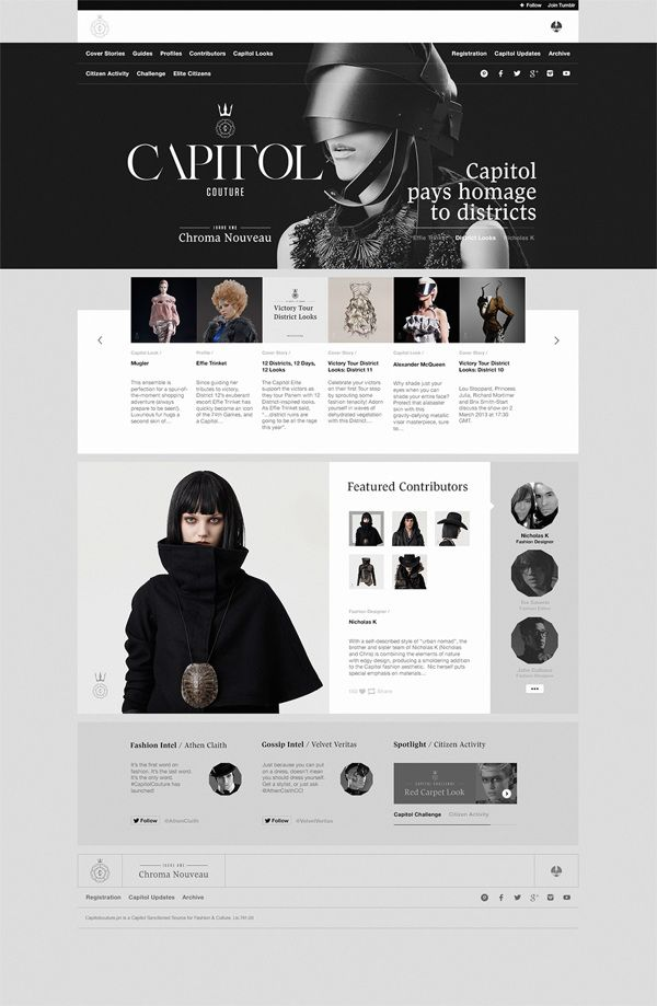 Capitol Couture Tumblr Site by Watson , via Behance