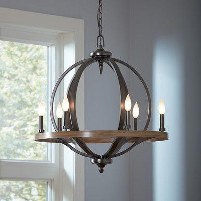 Birch lane brayden 6 light candle style chandelier