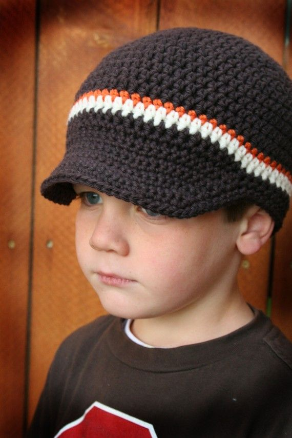 The Cameron -- Boys and Mens Crochet Newsboy Hat in Deep Espresso ...