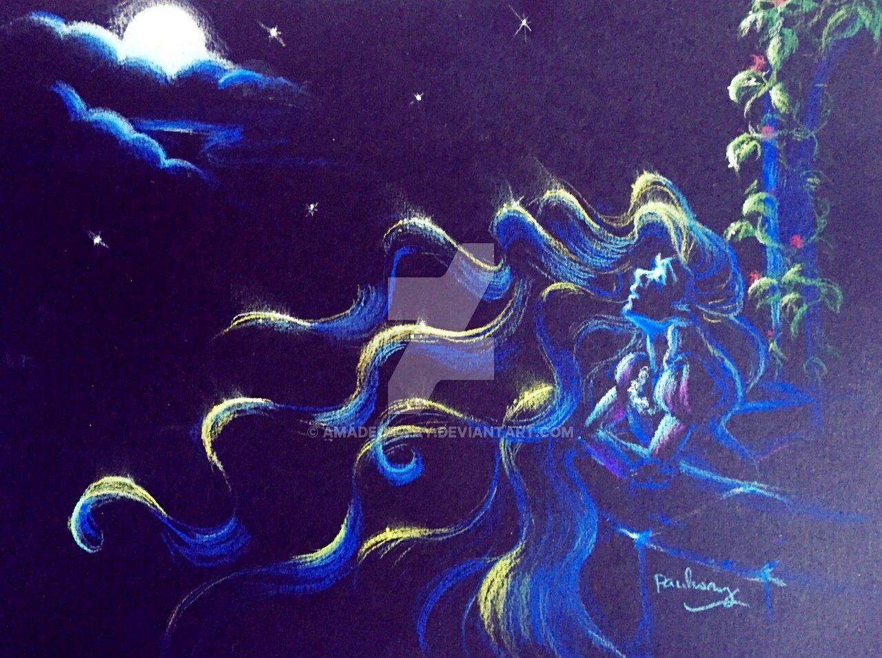 Rapunzel (Chalk Art by AmadeuxWay @deviantART) #Tangled