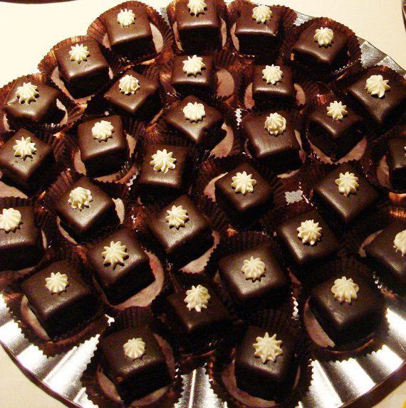 Gluten Free Petit Fours chocolate ganache by angelcakesbakery