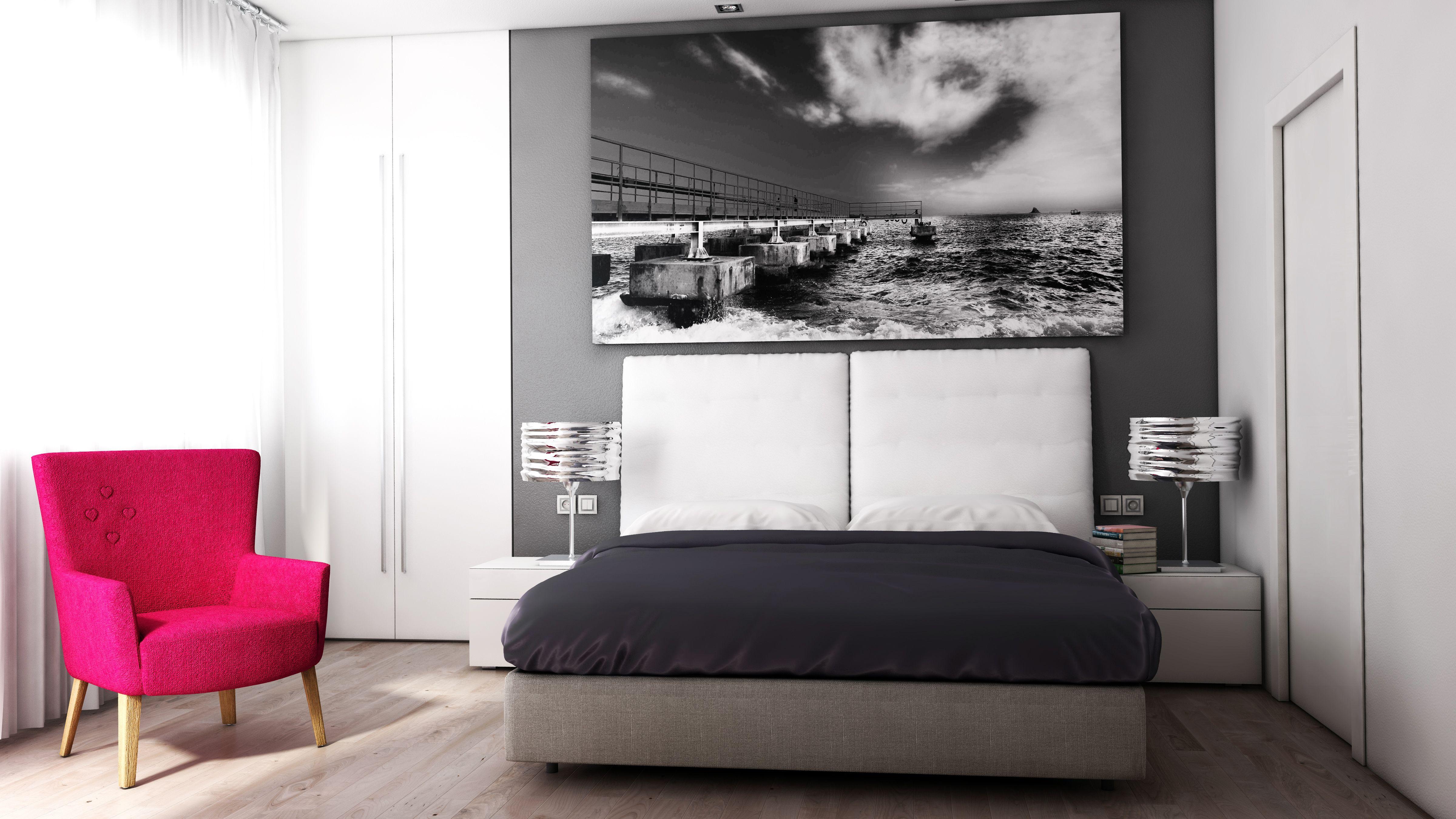 Soggiorno con vista angolo cottura e corridoio con illuminazione artificiale mista a illuminazione naturale Render Interni Pinterest