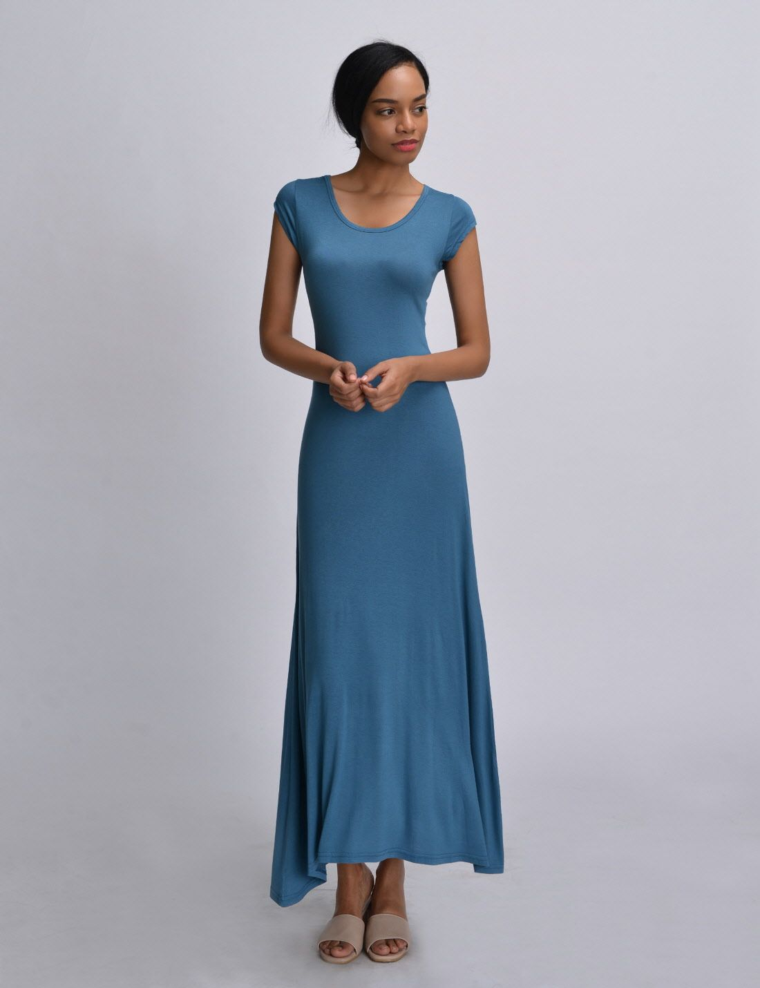 fitted maxi dress casual