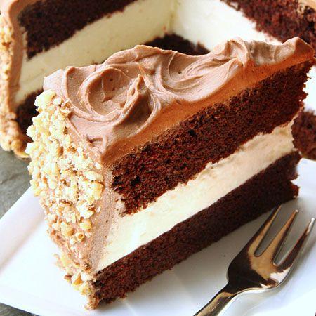 Triple Chocolate Strata Cake Recipe