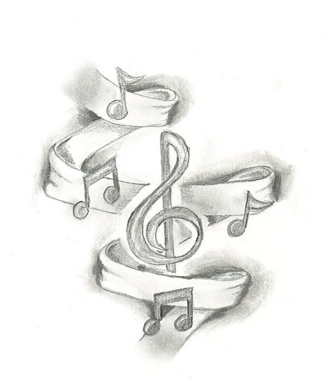 Tattoo Of Music Notes Designs