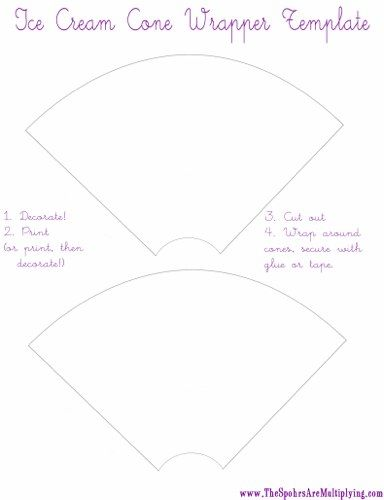 decorate your own ice cream cone wrappers | Templates | Pinterest ...