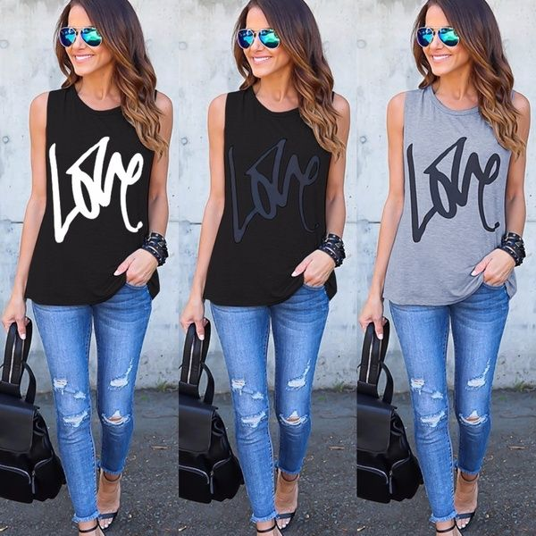 shirtsforwomen, Women Vest, Amor, letter print - 1