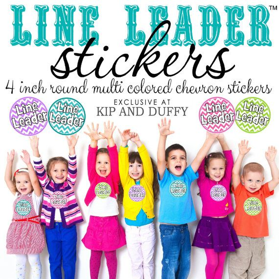 Line Leader stickers for Little Ones and Teachers by kipandduffy - line leader