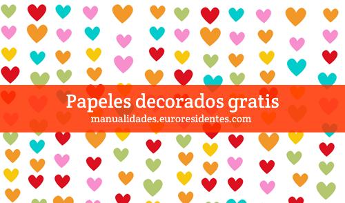 Papel decorado corazones http manualidades - Papel decorado manualidades ...