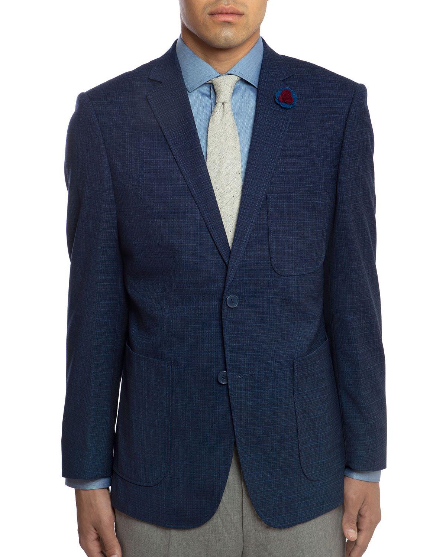 English Laundry Men S Slim Fit Patch Pocket Sport Jacket