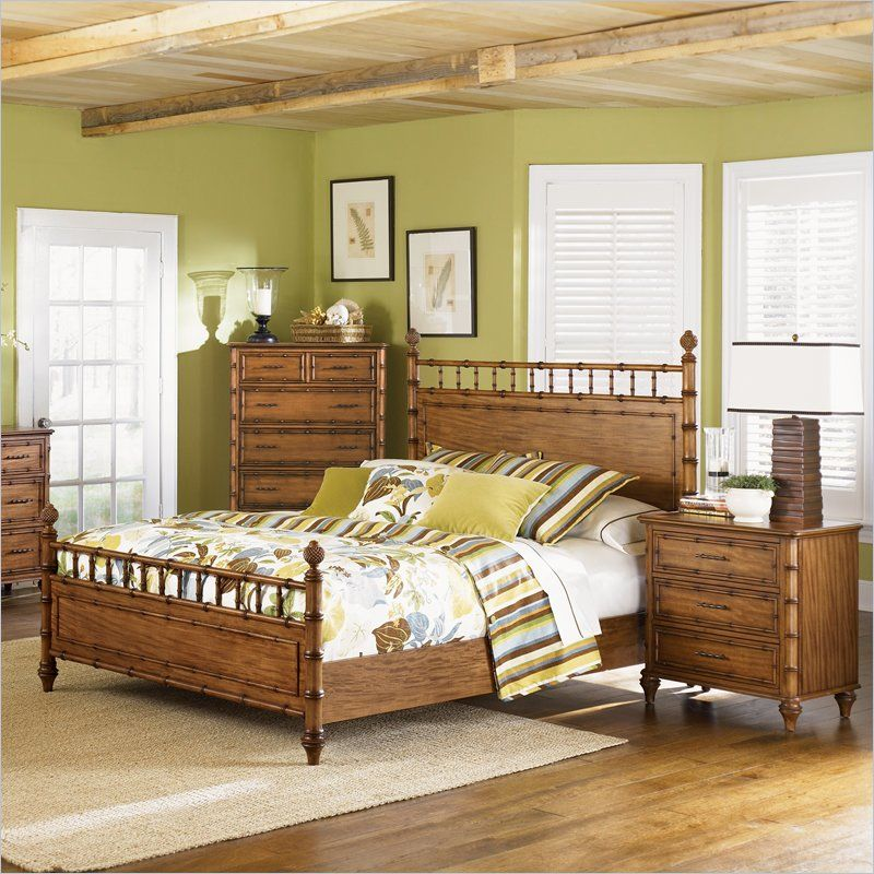 Magnussen Palm Bay Poster Bed 2 Piece Bedroom Set in Toffee Finish - Poster Bedroom Sets