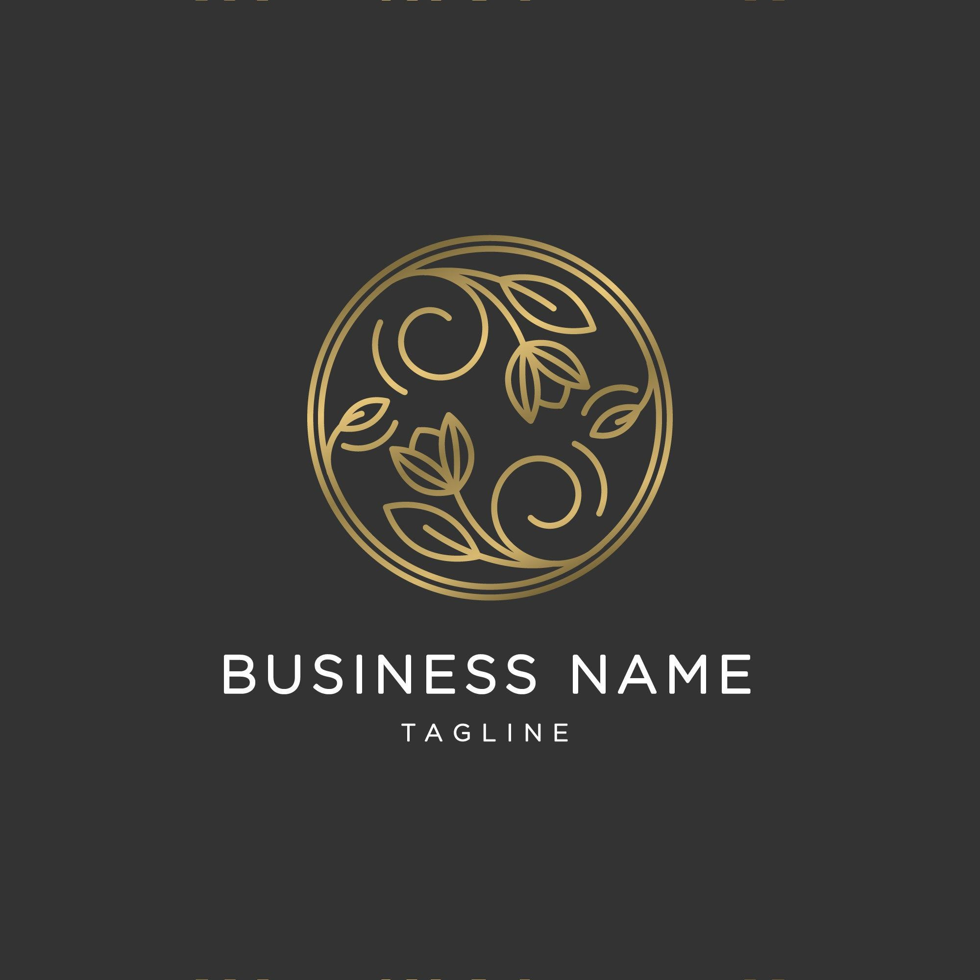 Photo of premade luxury, organic logo for an Organic Shop, cosmetics, Naturopath consultant, handmade jewelry boutique
