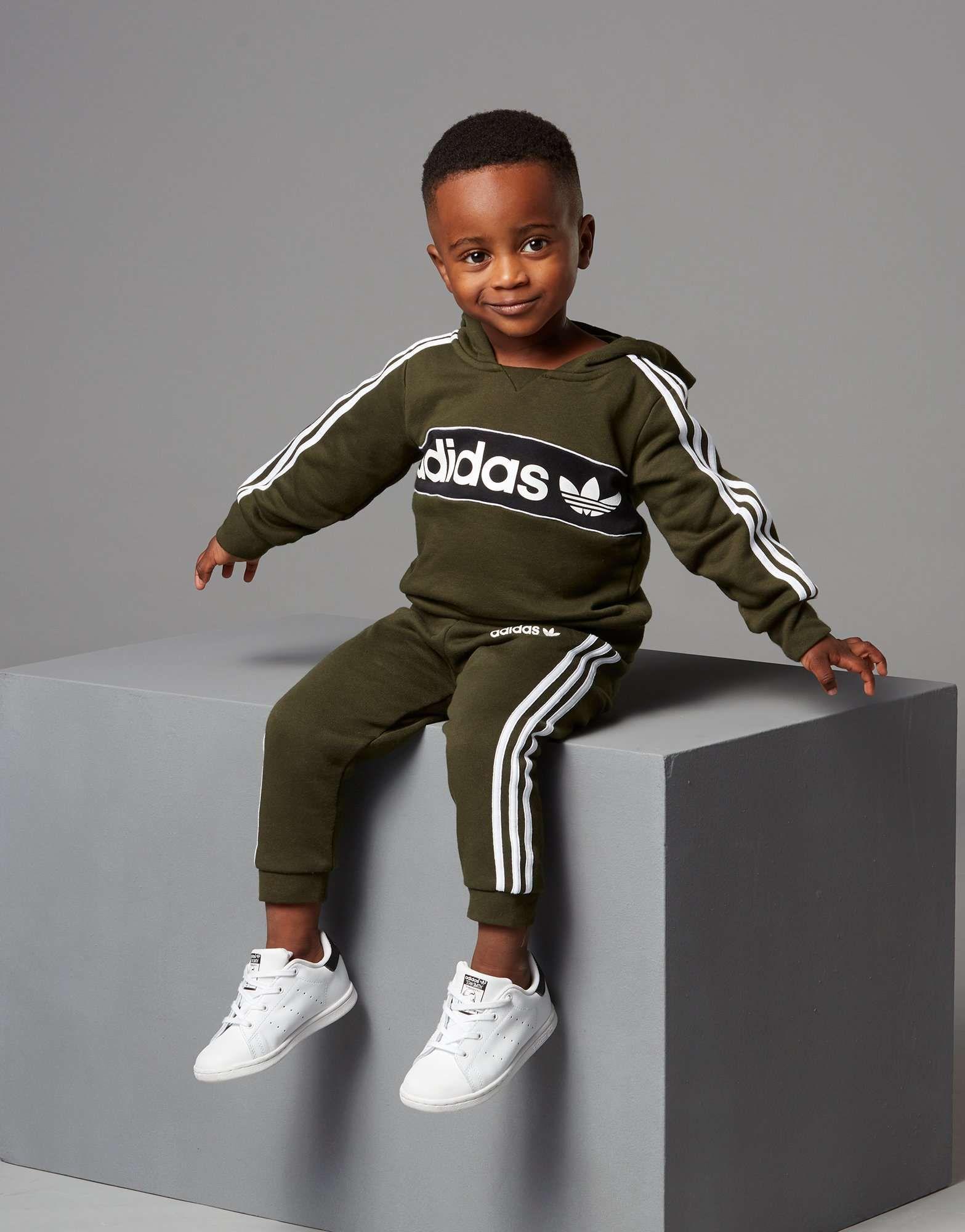6a497ed68206d adidas Originals Linear Overhead Tracksuit Infant - Shop online for adidas  Originals Linear Overhead Tracksuit Infant with JD Sports