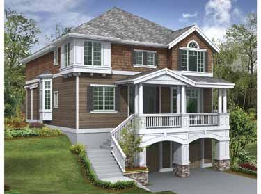 Love the idea of garage under house and i have seen for Garage under house plans