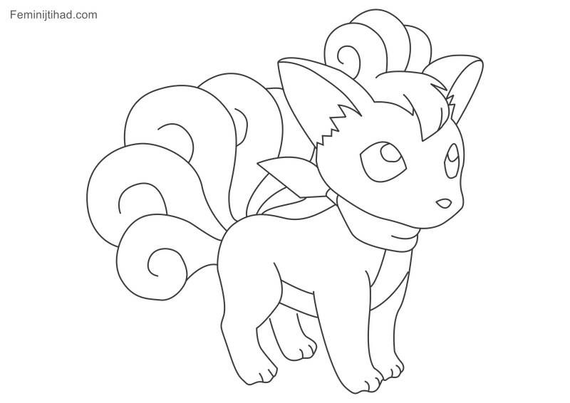 Printable Pokemon Vulpix Coloring Pages Coloring Pages Pokemon