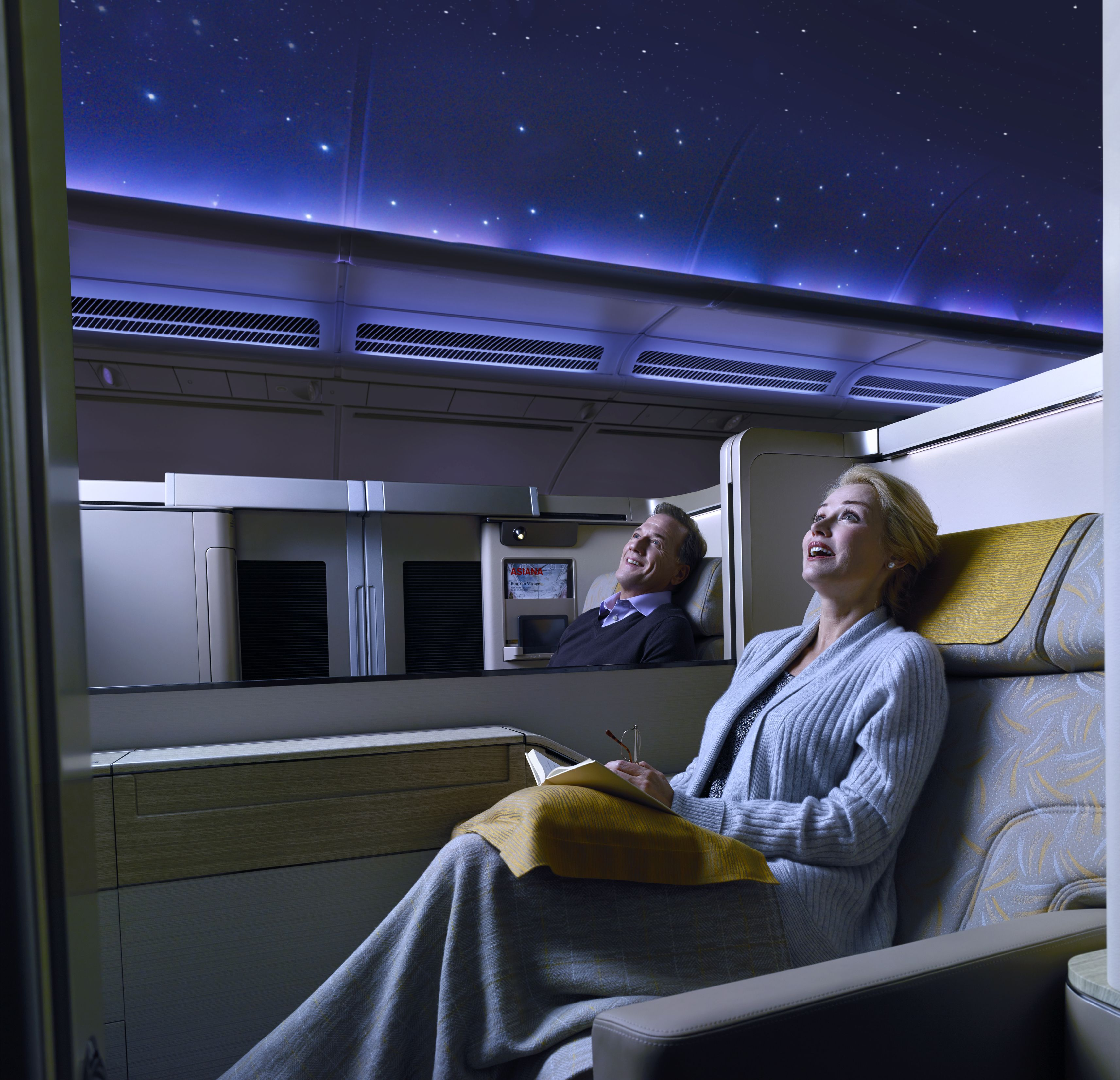 Starlight moodlight in the First Suite cabin on