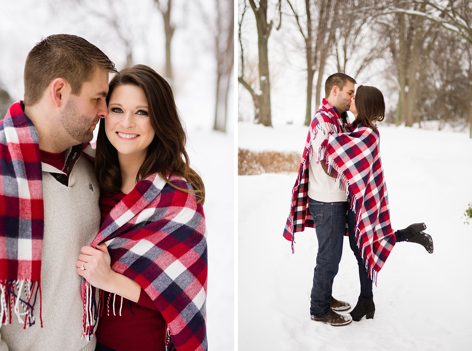 A Snowy Winter Engagement At The Edsel And Eleanor Ford House In