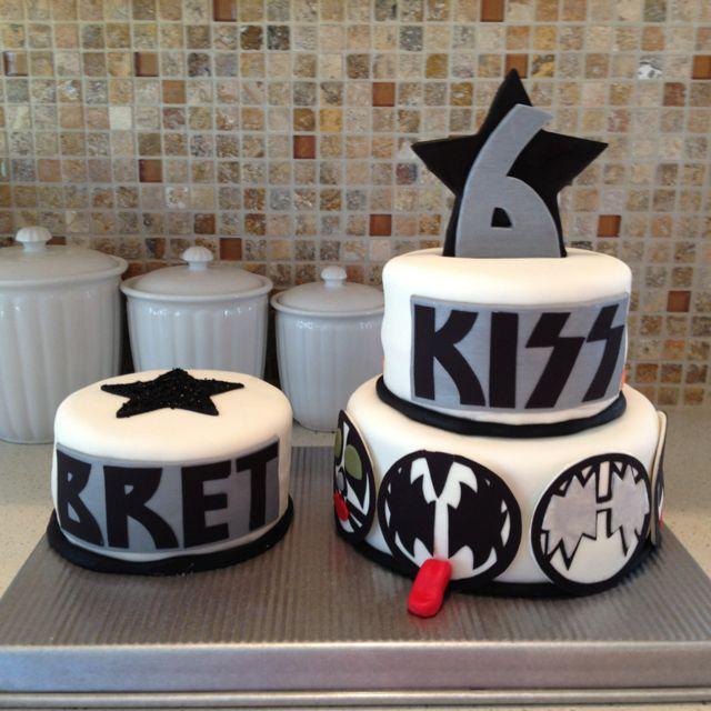 Astounding Kiss Birthday Cake Birthday Cake For Brother 40Th Birthday Funny Birthday Cards Online Overcheapnameinfo