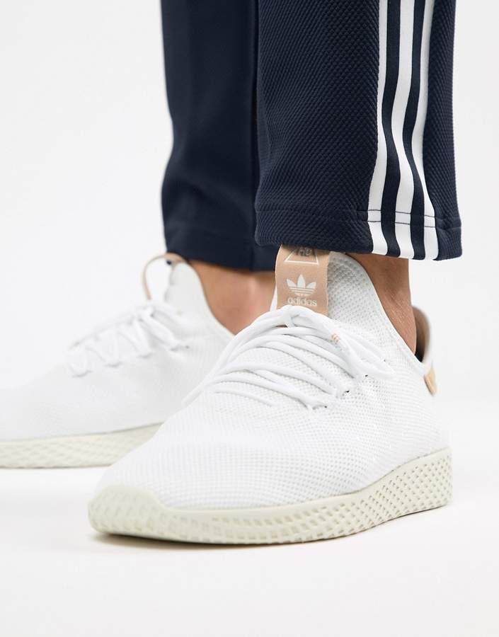 b0164c9f5cc0c adidas Originals Pharrell Williams Tennis HU Sneakers In White ...