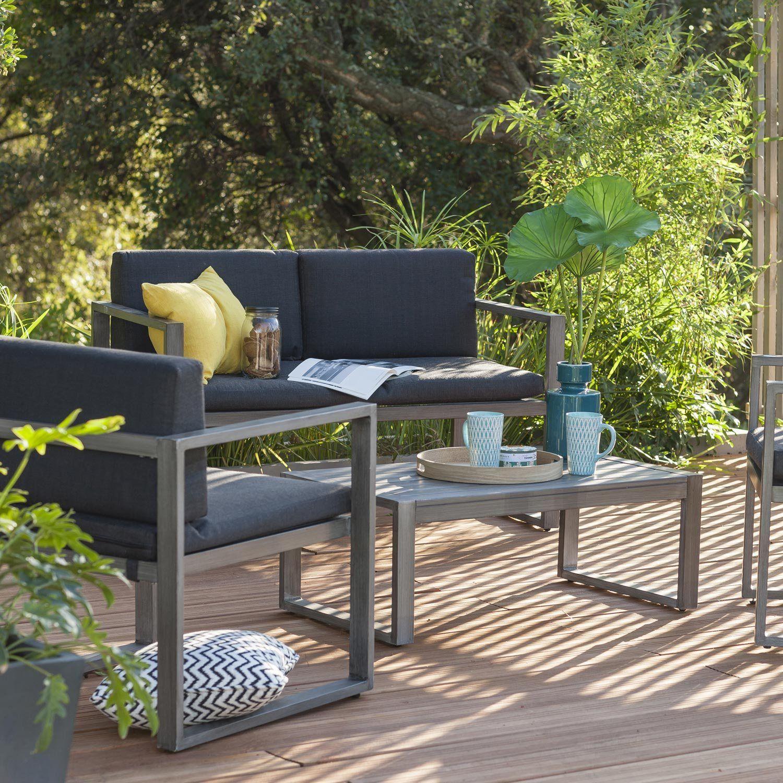Salon De Jardin Bas Aluminium | Agrément de jardin, Salon de ...