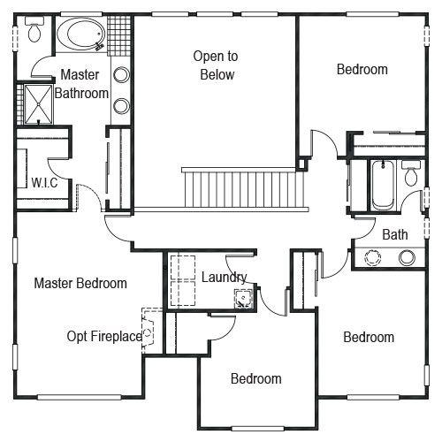 Keller Homes' Award-winning Jackson Floor Plan, Upper