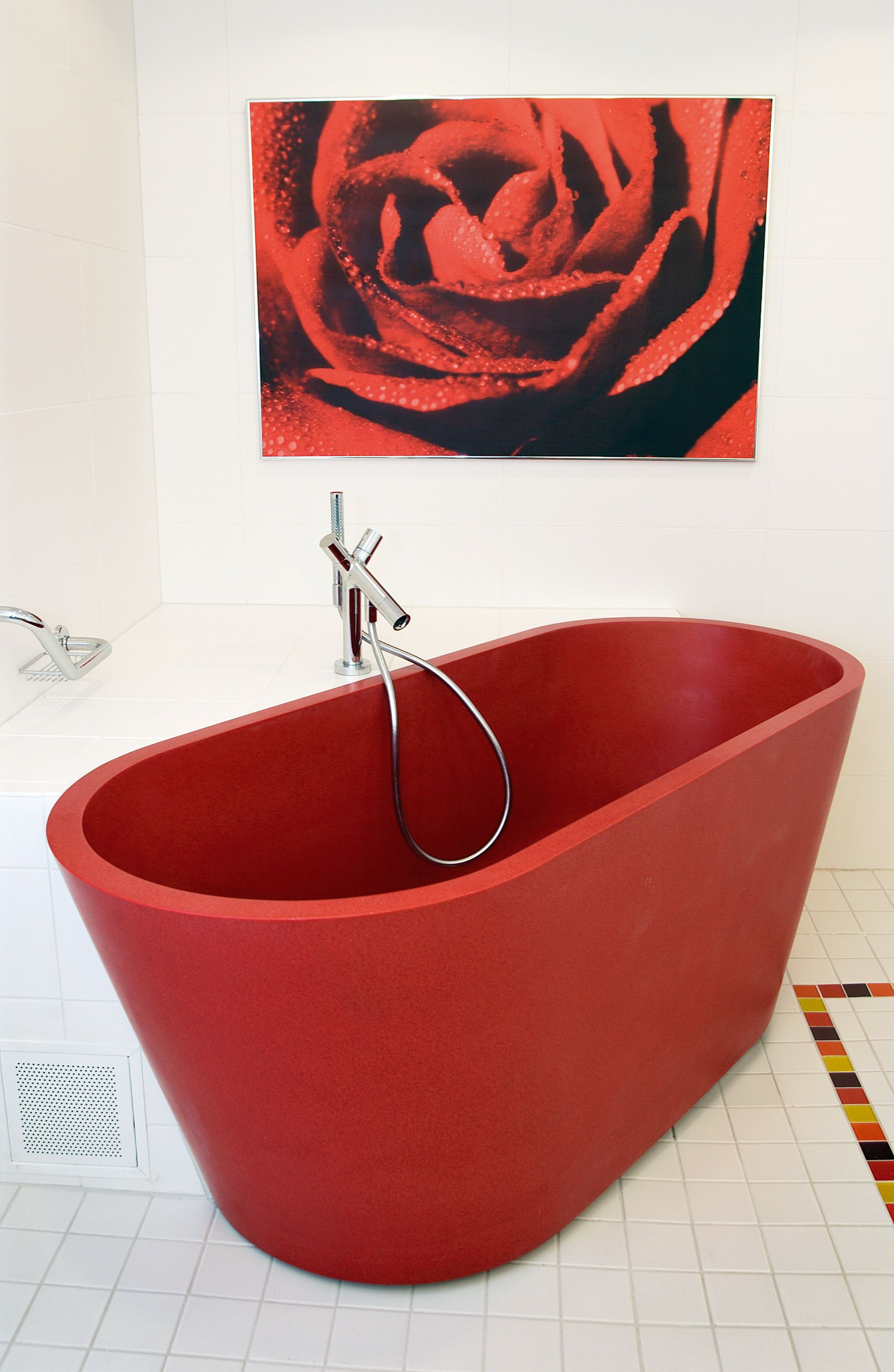 Red Bath Tub