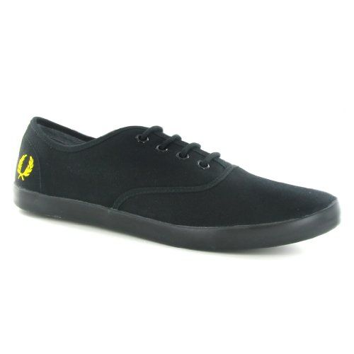 Fred Perry Coxson Canvas Black Yellow Mens Trainers Size 9 US