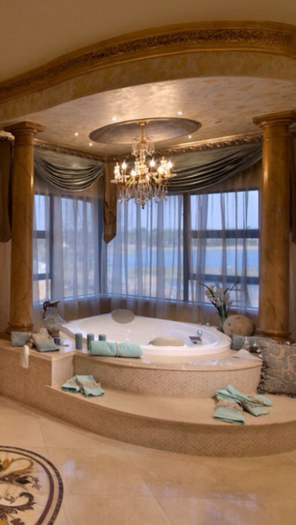 99 Romantic and Elegant Bathroom Design Ideas with Chandeliers #dreambathrooms