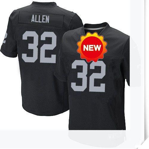 66.00--32 Marcus Allen Jersey - Elite Nike Stitched Black Home Oakland  Raiders Jersey c458d79ca