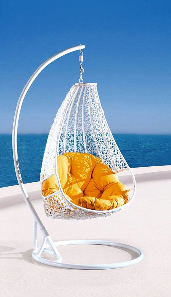 Relax In Style With Comfortable Egg-shaped Rattan Outdoor Euro Swing ...