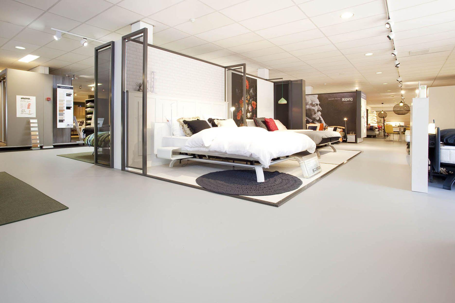 Auping store on the floor marmoleum walton forbo marmoleum