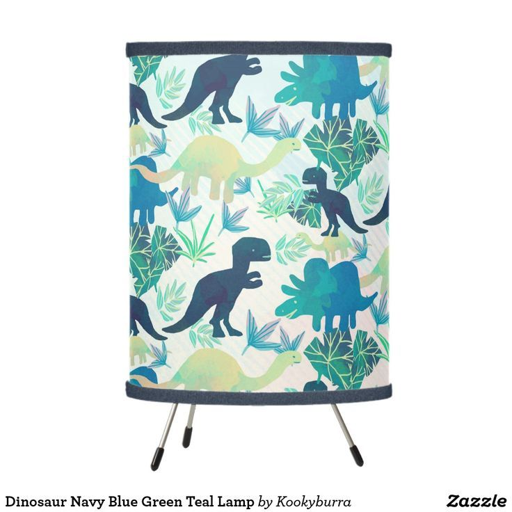 Dinosaur Navy Blue Green Teal Lamp | Zazzle.com